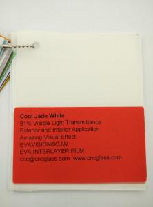 Cool Jade White Ethylene Vinyl Acetate Copolymer EVA interlayer film for laminated glass safety glazing (10)