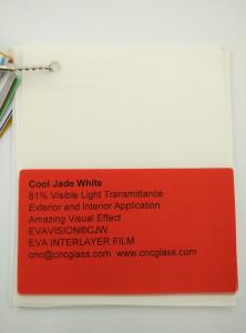 Cool Jade White Ethylene Vinyl Acetate Copolymer EVA interlayer film for laminated glass safety glazing (11)