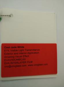 Cool Jade White Ethylene Vinyl Acetate Copolymer EVA interlayer film for laminated glass safety glazing (12)