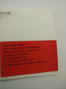 Cool Jade White Ethylene Vinyl Acetate Copolymer EVA interlayer film for laminated glass safety glazing (14)