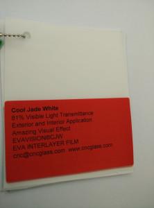 Cool Jade White Ethylene Vinyl Acetate Copolymer EVA interlayer film for laminated glass safety glazing (15)