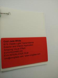 Cool Jade White Ethylene Vinyl Acetate Copolymer EVA interlayer film for laminated glass safety glazing (17)