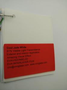 Cool Jade White Ethylene Vinyl Acetate Copolymer EVA interlayer film for laminated glass safety glazing (19)