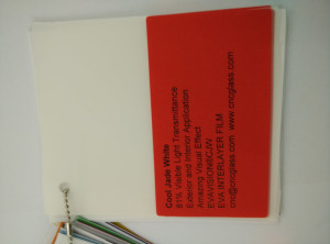 Cool Jade White Ethylene Vinyl Acetate Copolymer EVA interlayer film for laminated glass safety glazing (25)