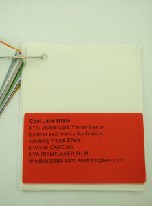 Cool Jade White Ethylene Vinyl Acetate Copolymer EVA interlayer film for laminated glass safety glazing (3)