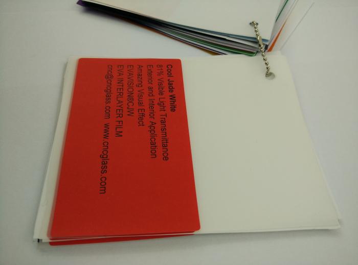 Cool Jade White Ethylene Vinyl Acetate Copolymer EVA interlayer film for laminated glass safety glazing (32)