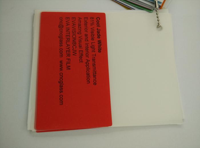 Cool Jade White Ethylene Vinyl Acetate Copolymer EVA interlayer film for laminated glass safety glazing (33)