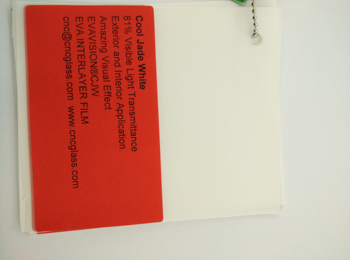 Cool Jade White Ethylene Vinyl Acetate Copolymer EVA interlayer film for laminated glass safety glazing (36)