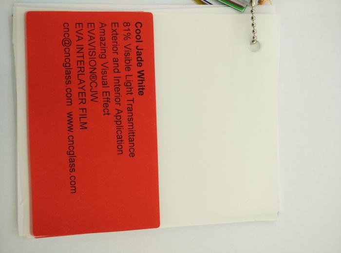 Cool Jade White Ethylene Vinyl Acetate Copolymer EVA interlayer film for laminated glass safety glazing (38)