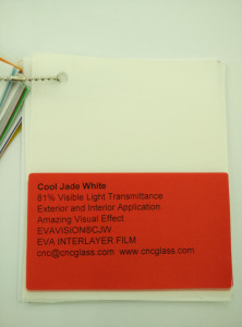 Cool Jade White Ethylene Vinyl Acetate Copolymer EVA interlayer film for laminated glass safety glazing (5)