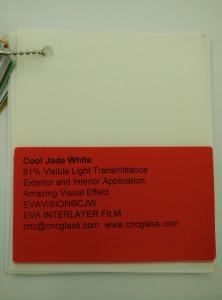Cool Jade White Ethylene Vinyl Acetate Copolymer EVA interlayer film for laminated glass safety glazing (6)
